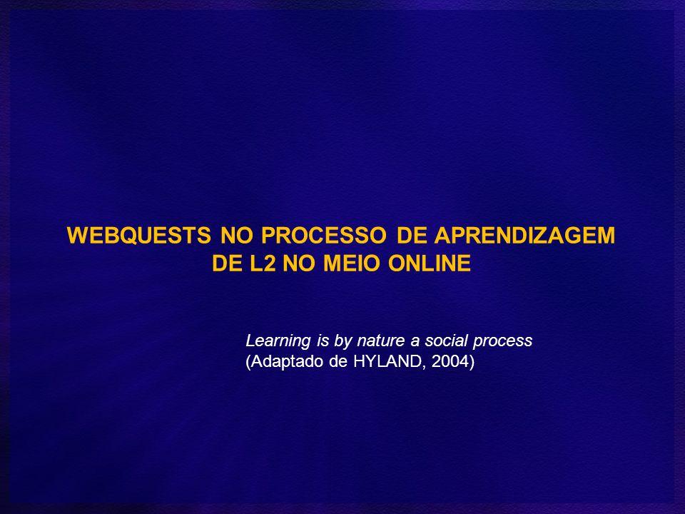 WEBQUESTS NO PROCESSO DE APRENDIZAGEM DE L2 NO MEIO ONLINE