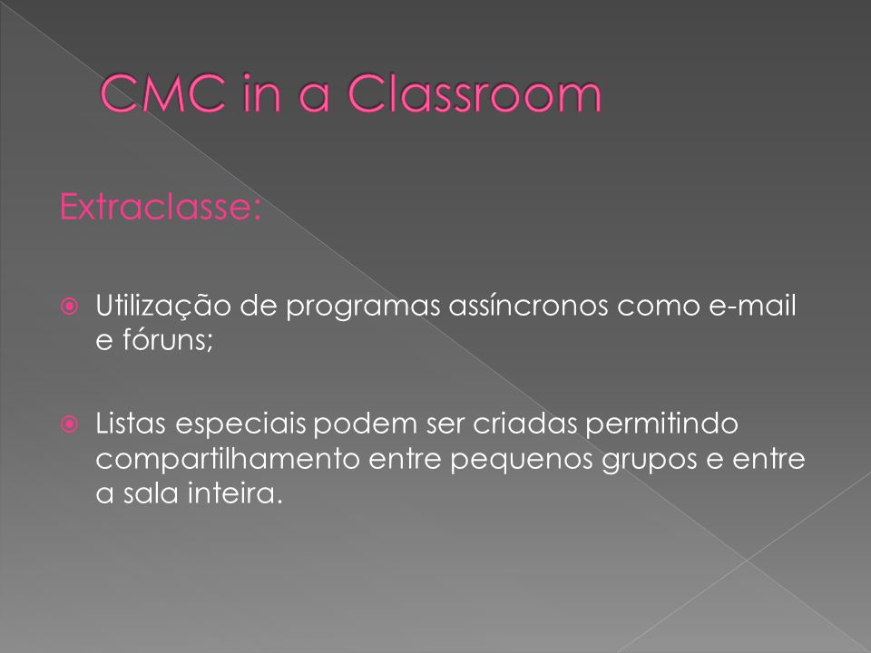 CMC in a Classroom Extraclasse: