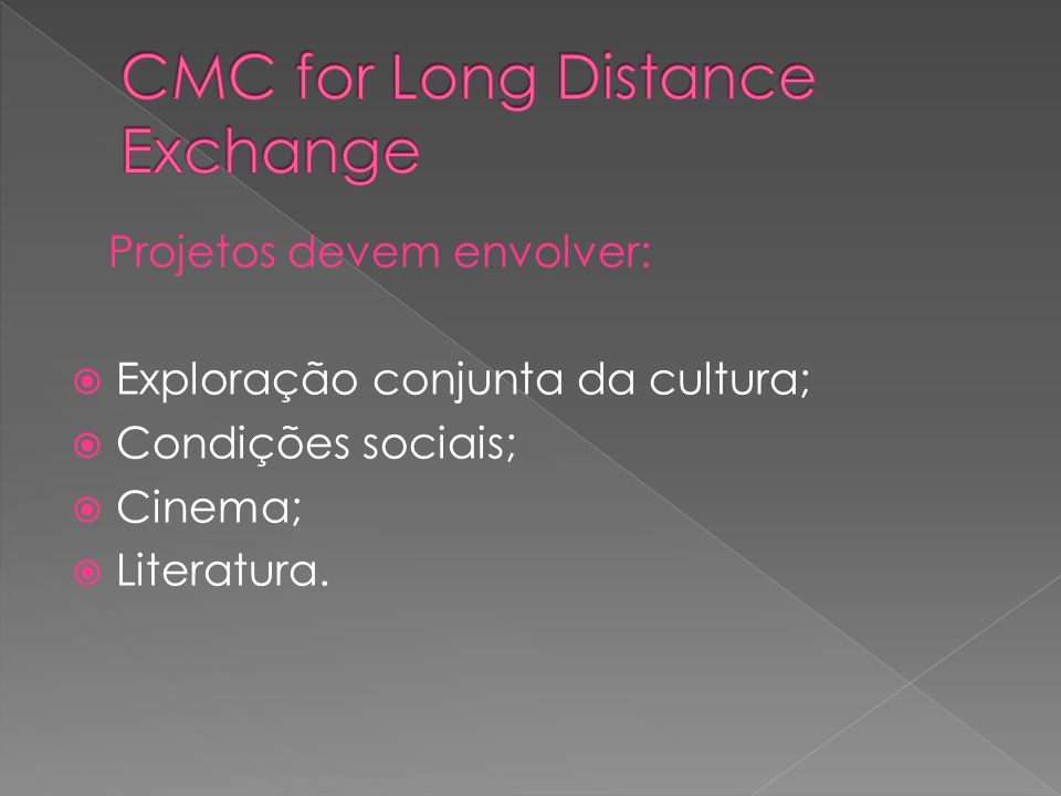 CMC for Long Distance Exchange