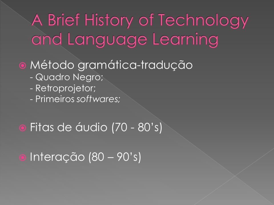 A Brief History of Technology and Language Learning