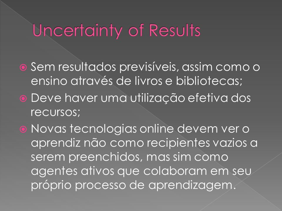 Uncertainty of Results