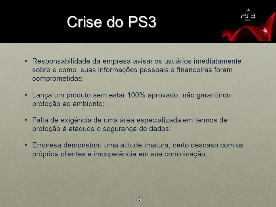 Crise do PS3