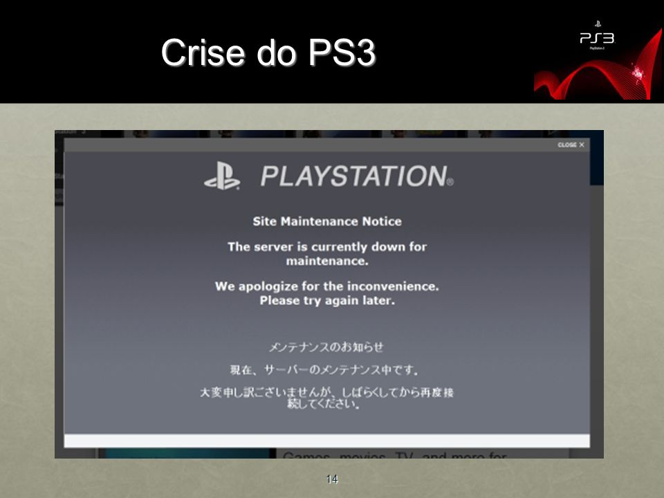 Crise do PS3 14