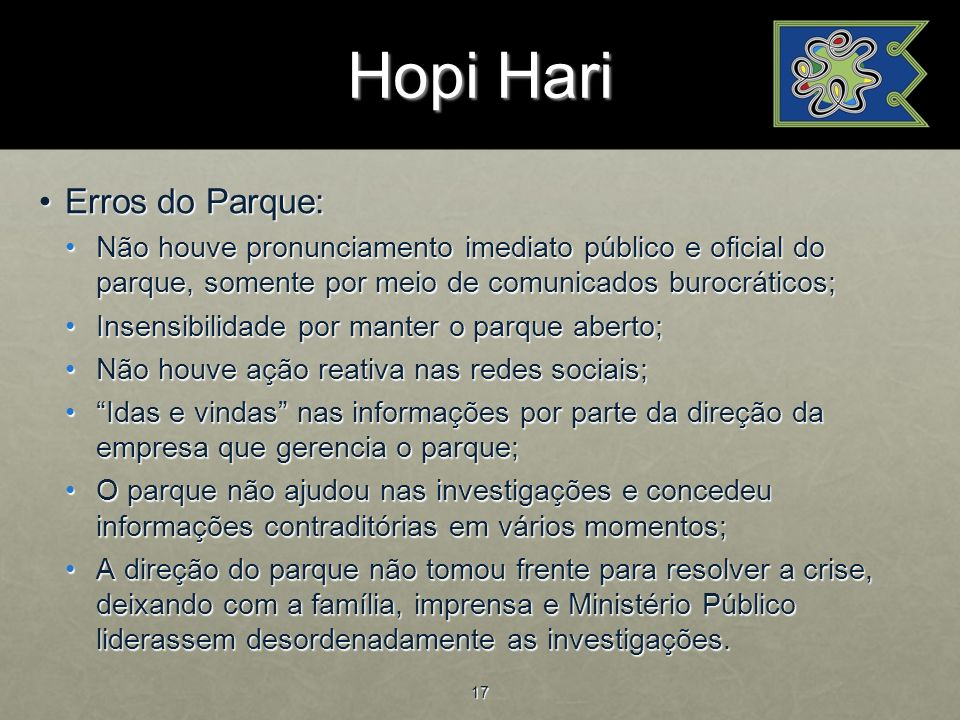 Hopi Hari Erros do Parque: