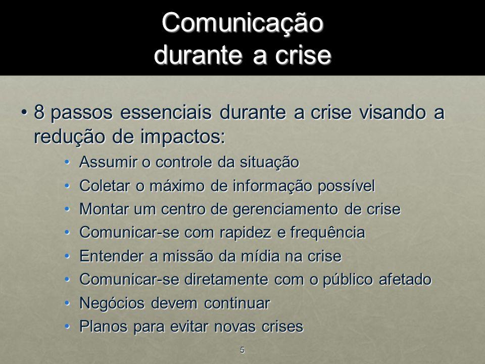 Comunicação durante a crise