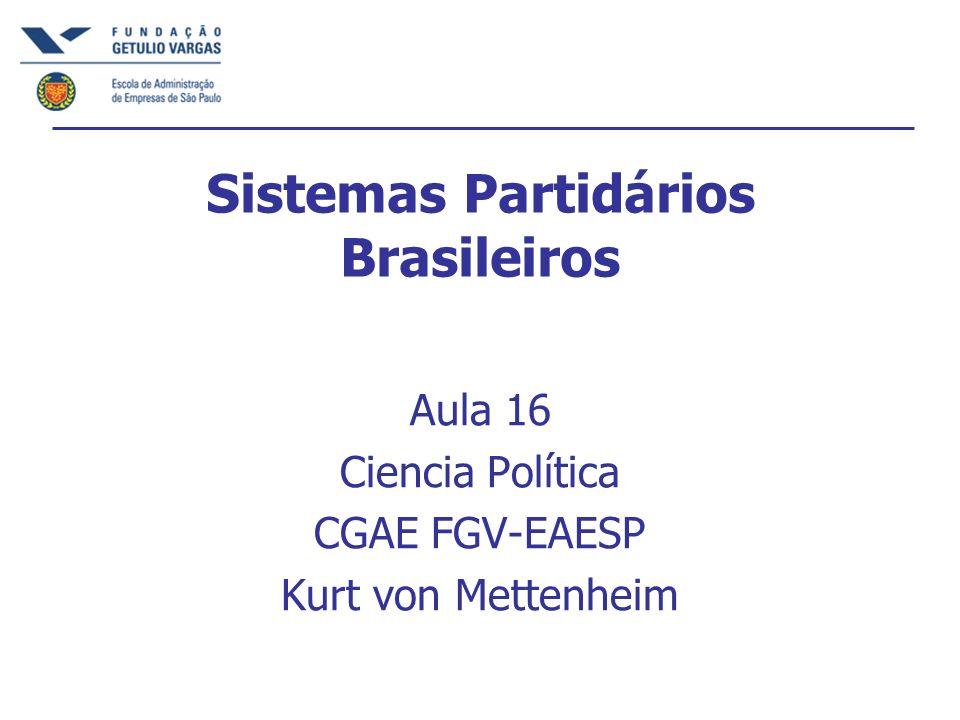 Sistemas Partidários Brasileiros