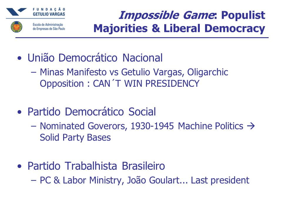 Impossible Game: Populist Majorities & Liberal Democracy