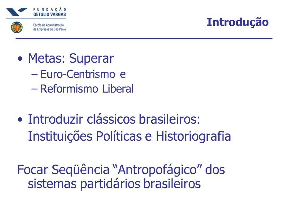 Introduzir clássicos brasileiros: