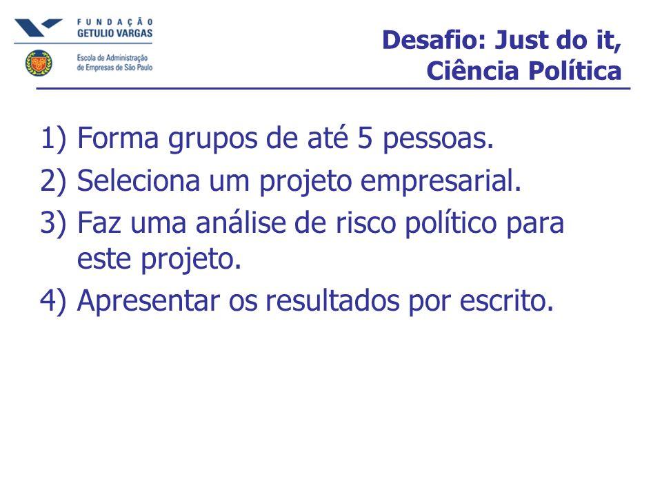 Desafio: Just do it, Ciência Política
