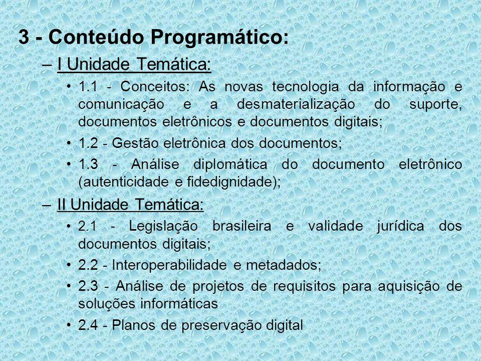 3 - Conteúdo Programático: