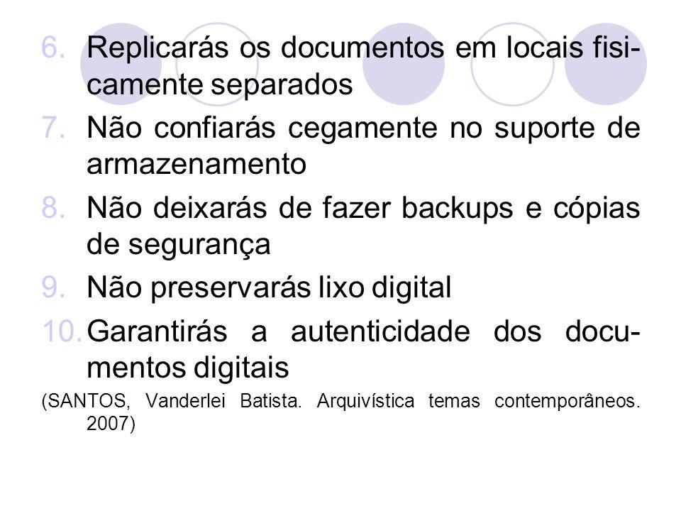 Replicarás os documentos em locais fisi-camente separados