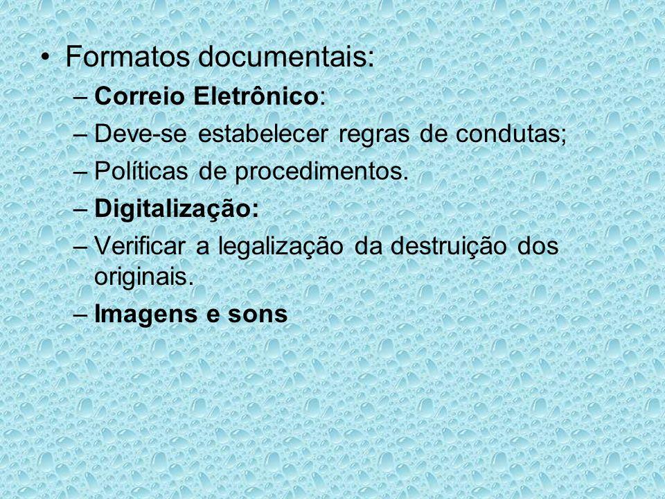 Formatos documentais: