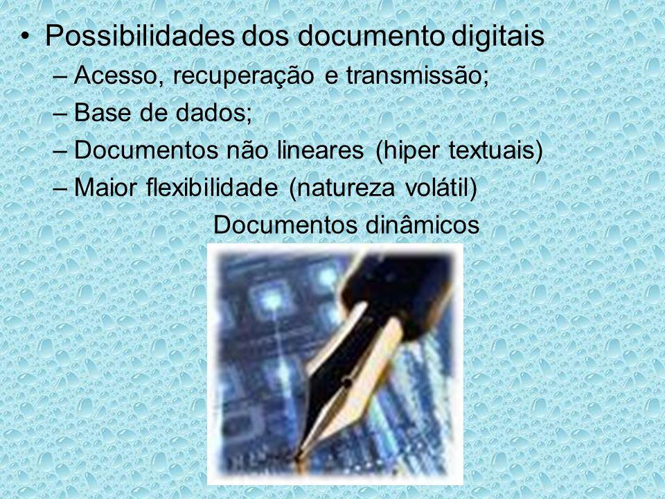 Possibilidades dos documento digitais
