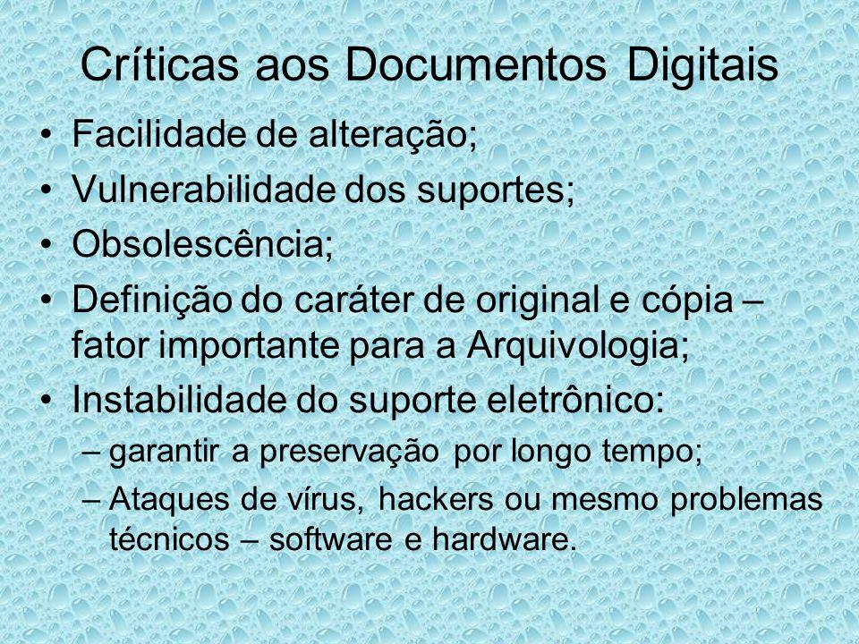 Críticas aos Documentos Digitais
