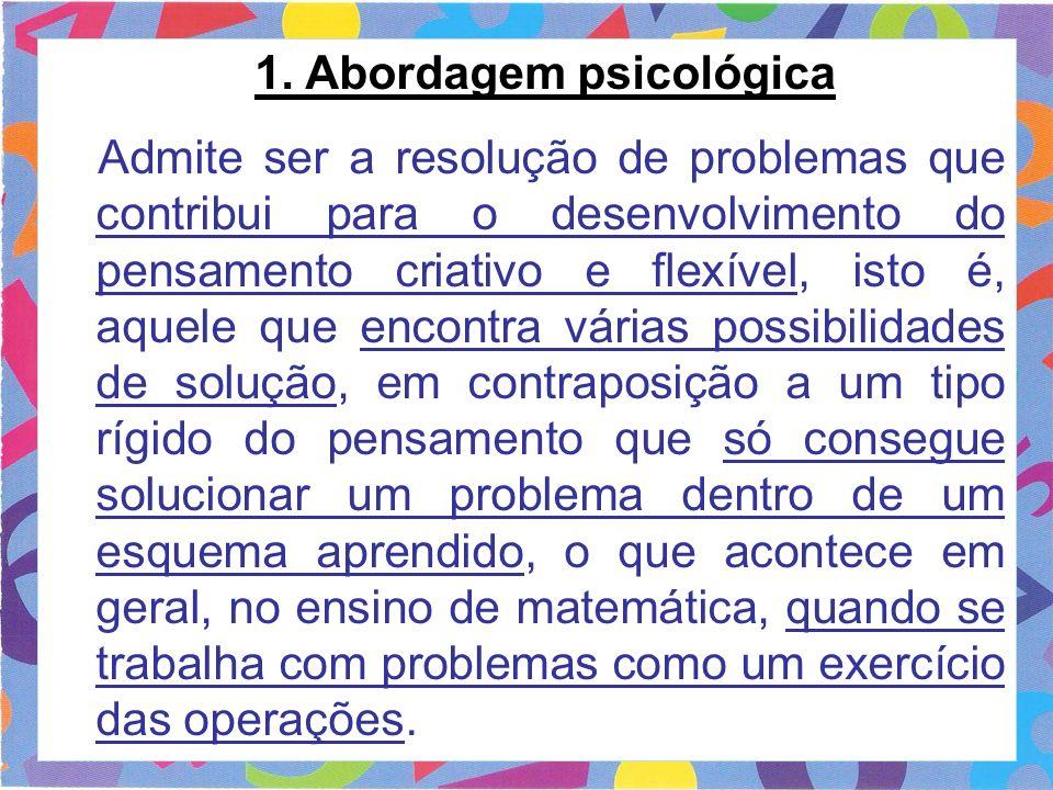 1. Abordagem psicológica