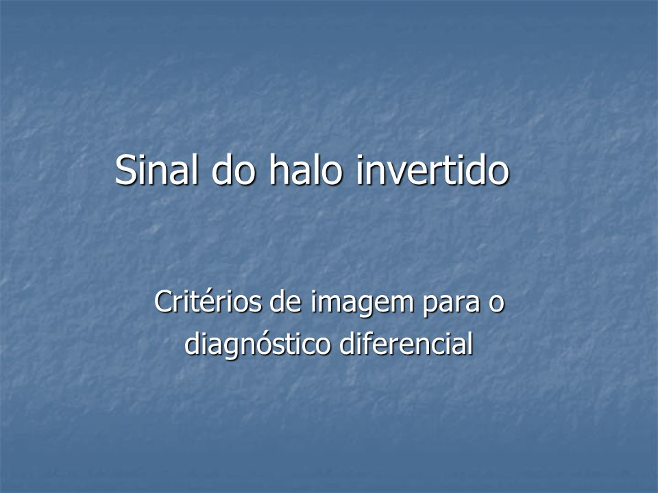 Sinal do halo invertido