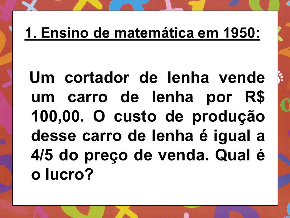 1. Ensino de matemática em 1950: