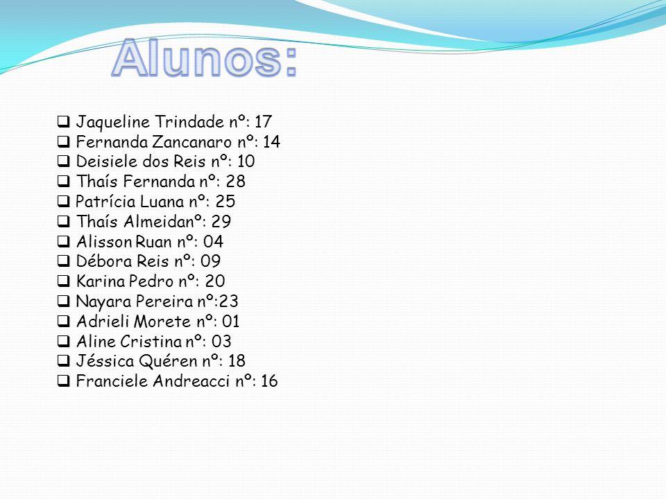 Alunos: Jaqueline Trindade nº: 17 Fernanda Zancanaro nº: 14