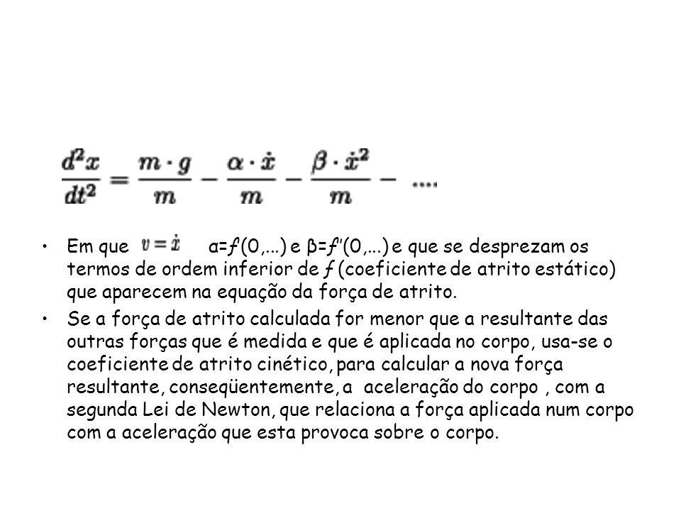 Em que α=ƒ′(0,...) e β=ƒ″(0,...) e que se desprezam os termos de ordem inferior de ƒ (coeficiente de atrito estático) que aparecem na equação da força de atrito.