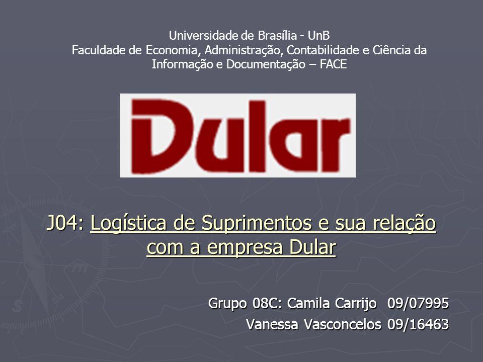 J04: Logística de Suprimentos e sua relação com a empresa Dular