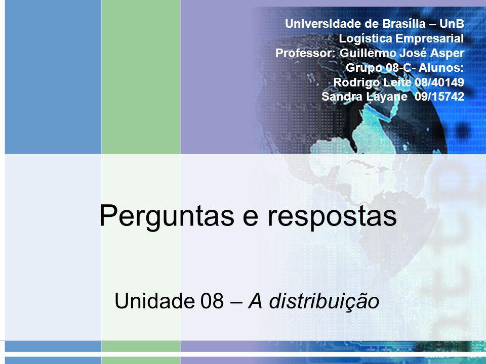 Unidade 08 – A distribuição
