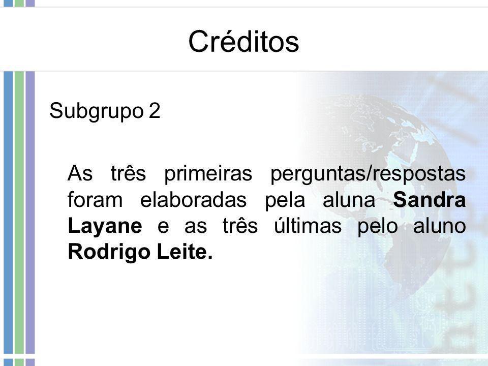 Créditos Subgrupo 2.