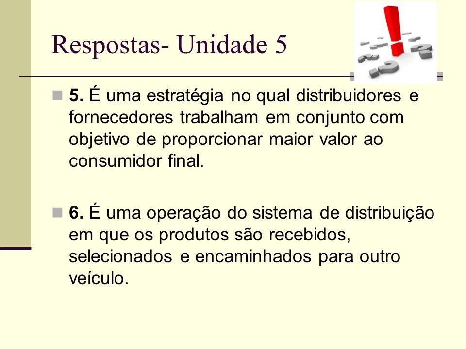 Respostas- Unidade 5
