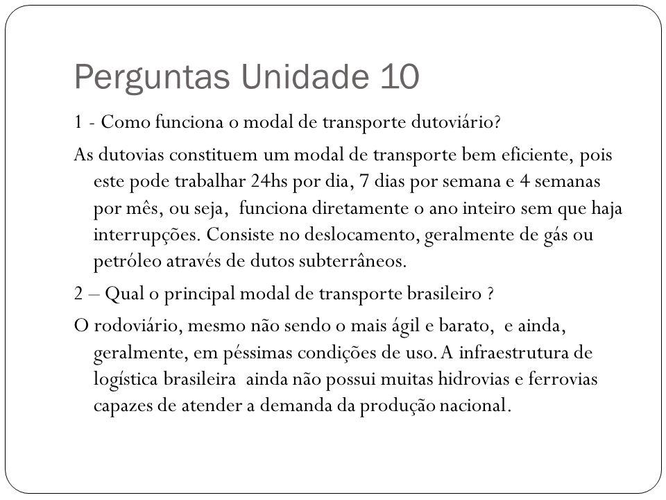 Perguntas Unidade 10