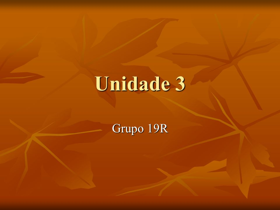 Unidade 3 Grupo 19R