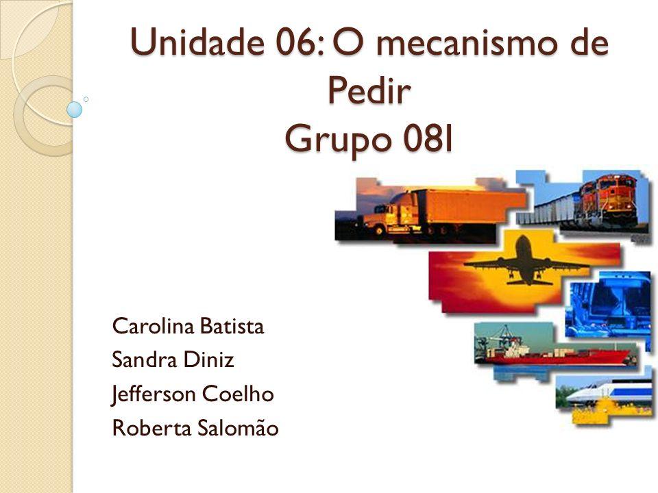Unidade 06: O mecanismo de Pedir Grupo 08I