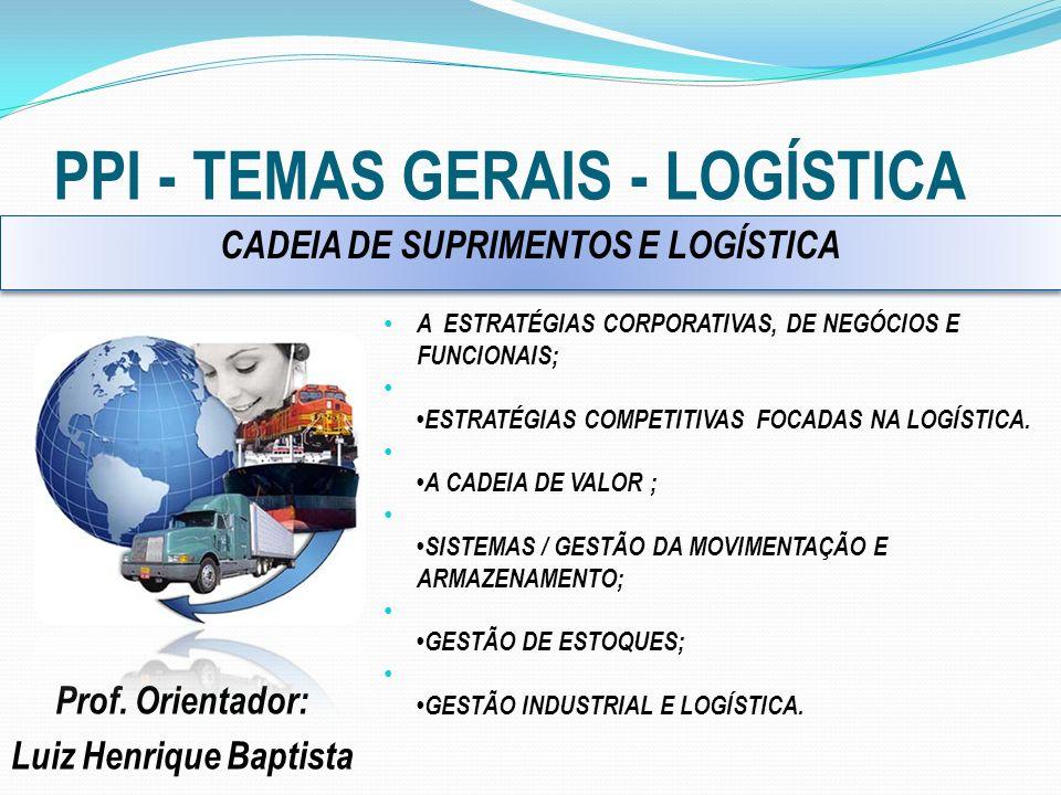 PPI - TEMAS GERAIS - LOGÍSTICA