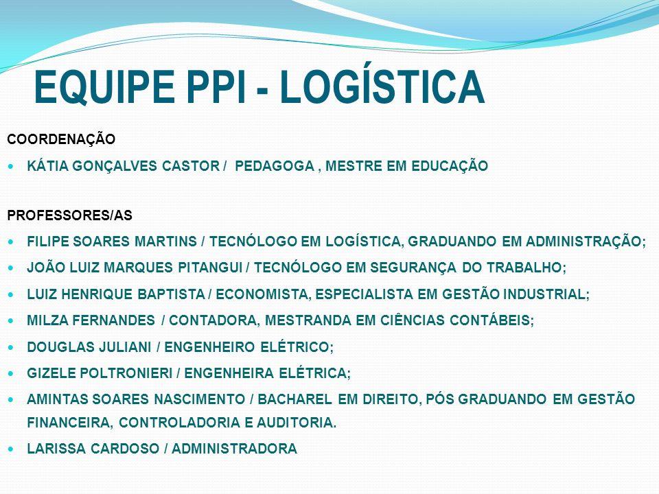 EQUIPE PPI - LOGÍSTICA COORDENAÇÃO