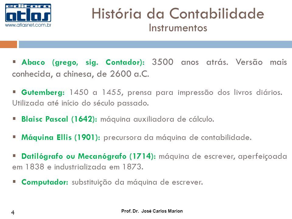 História da Contabilidade Instrumentos