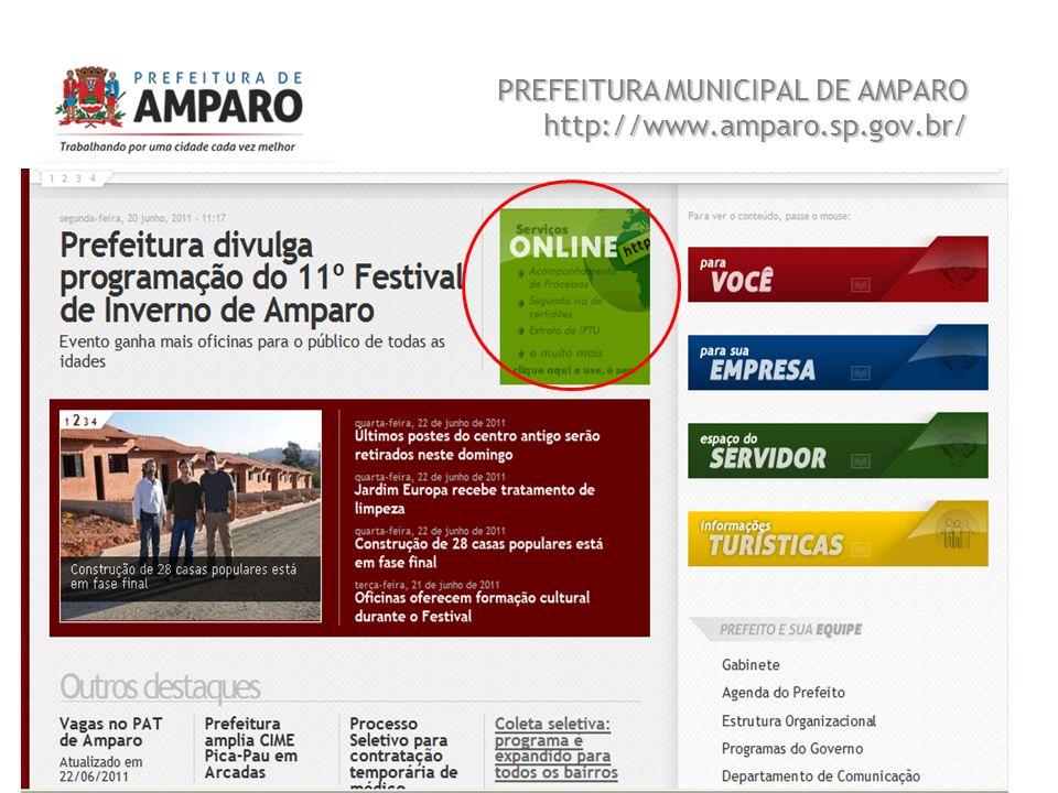PREFEITURA MUNICIPAL DE AMPARO http://www.amparo.sp.gov.br/