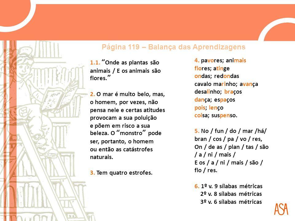 Página 119 – Balança das Aprendizagens
