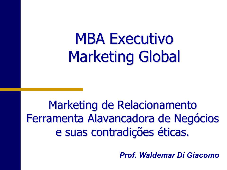MBA Executivo Marketing Global