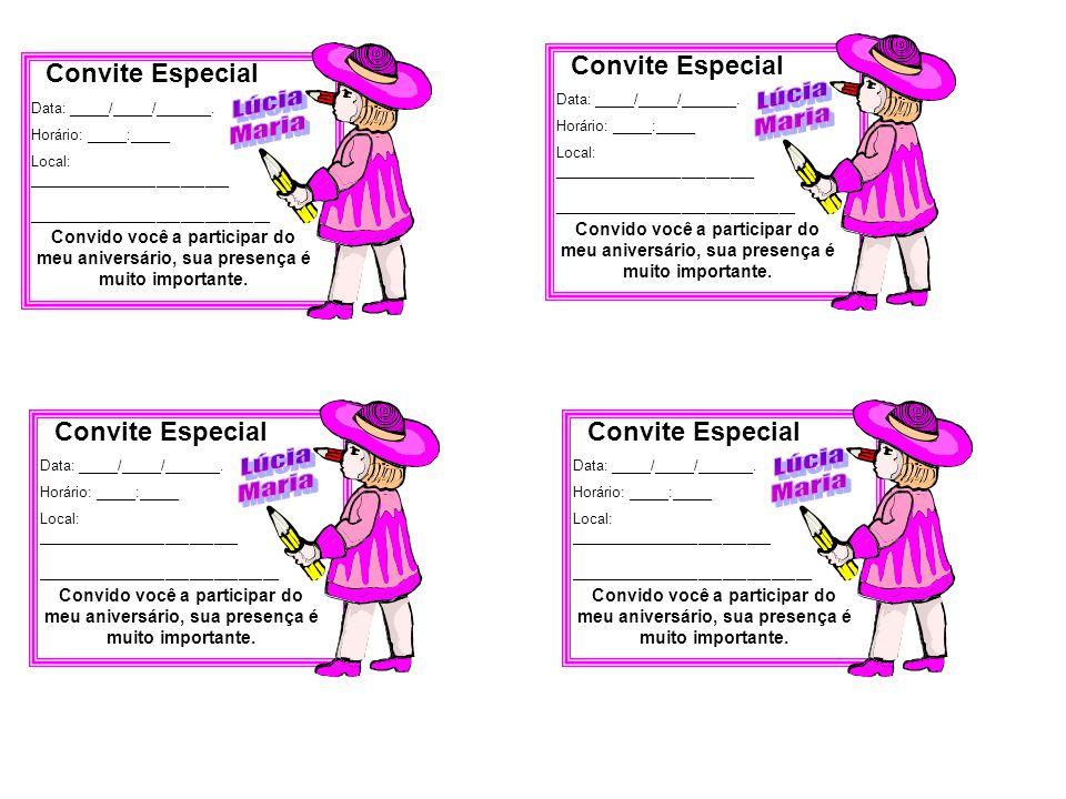 Lúcia Maria Lúcia Maria Lúcia Maria Lúcia Maria Convite Especial