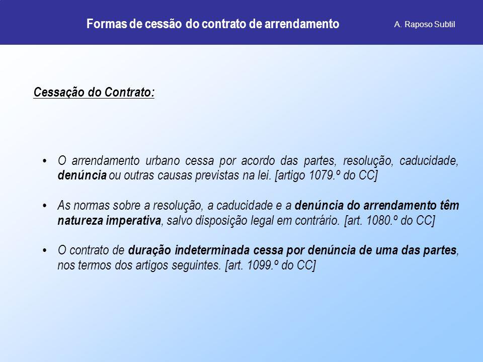 Formas de cessão do contrato de arrendamento