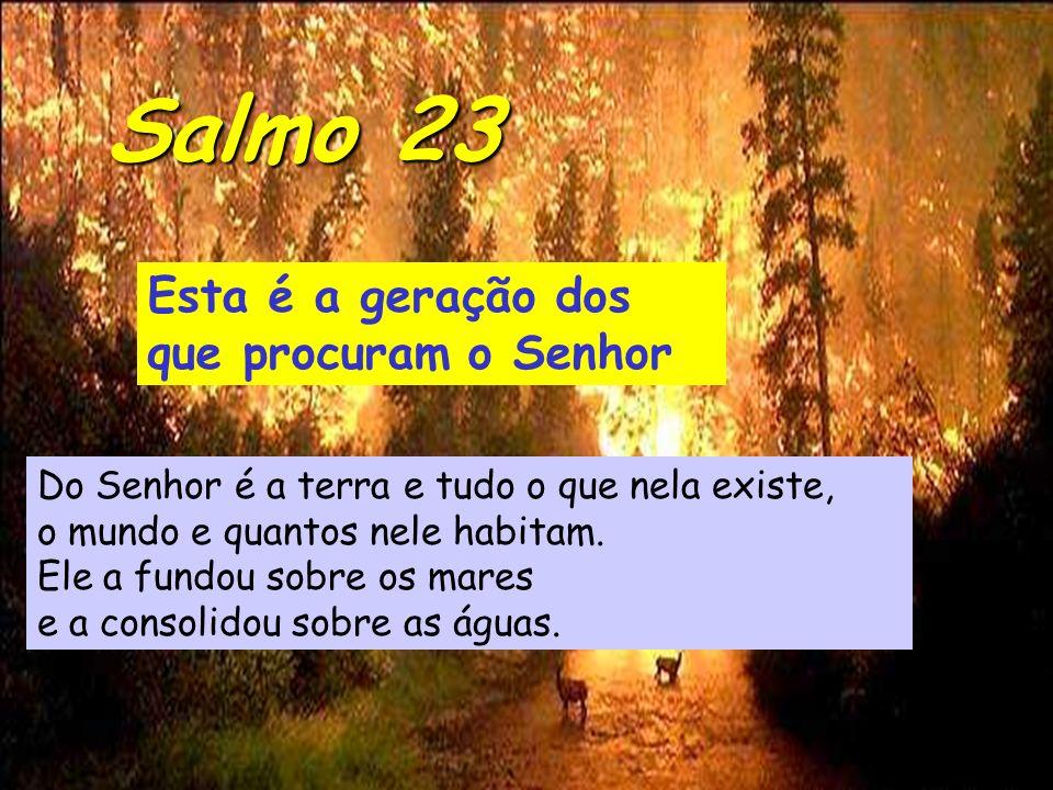 Salmo 23 Esta é a geração dos que procuram o Senhor