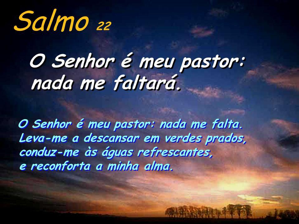 Salmo 22 O Senhor é meu pastor: nada me faltará.