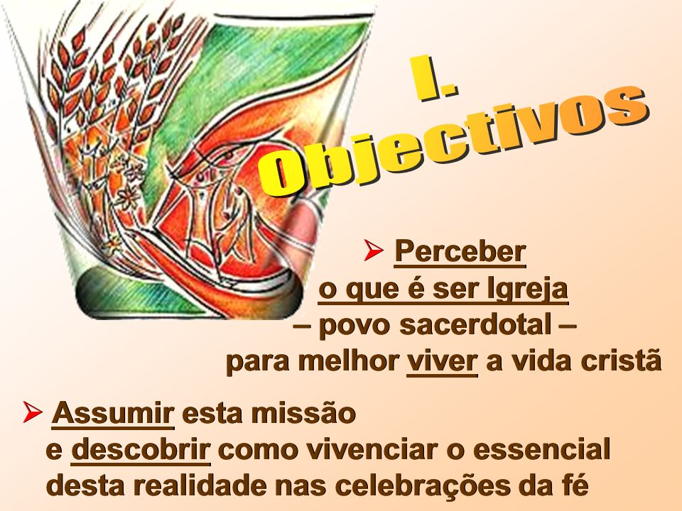 I. Objectivos.