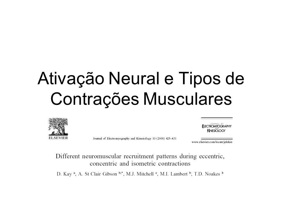 Ativação Neural e Tipos de Contrações Musculares