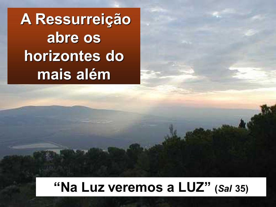 A Ressurreição abre os horizontes do mais além
