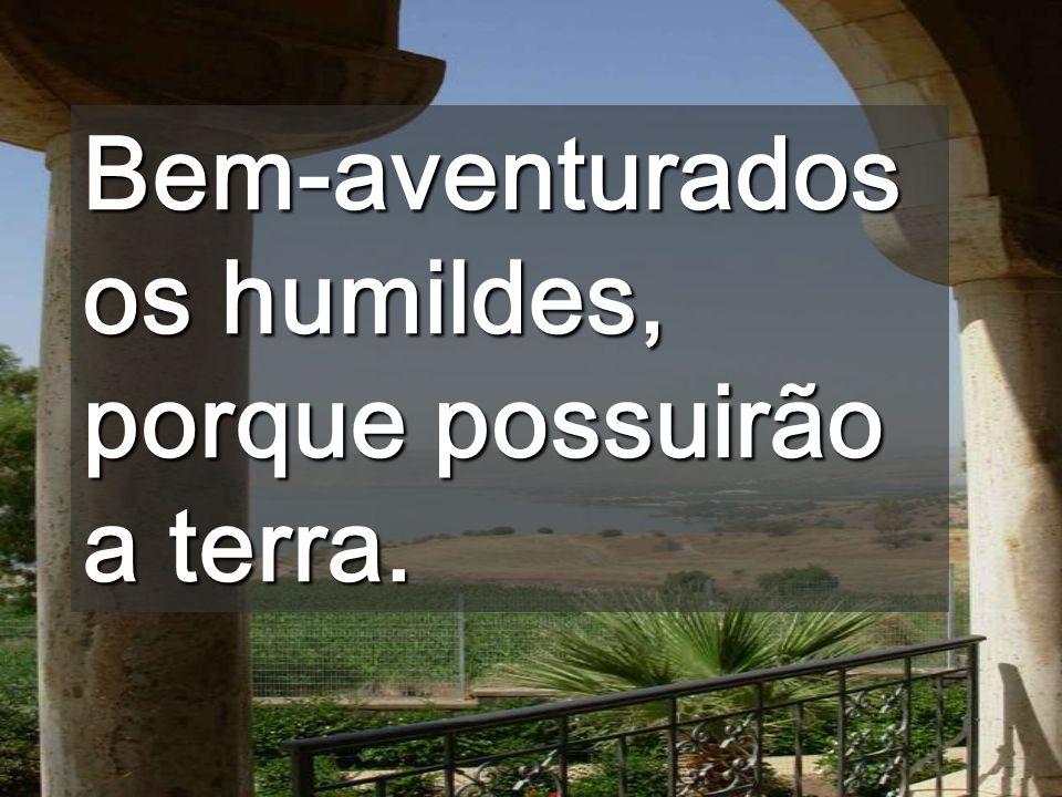 Bem-aventurados os humildes, porque possuirão a terra.