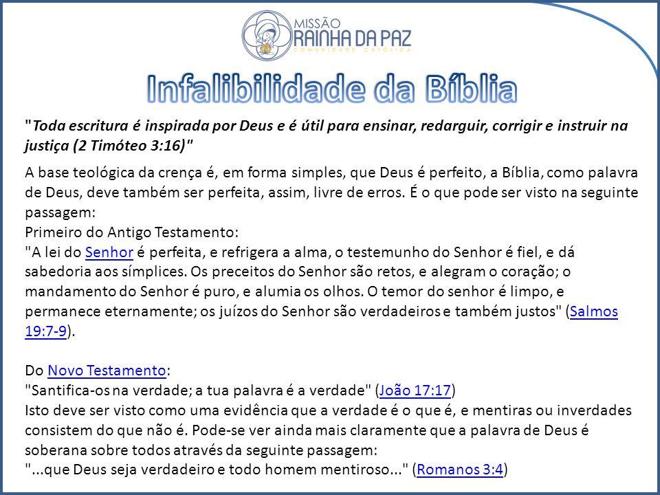 Infalibilidade da Bíblia