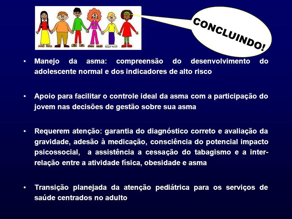CONCLUINDO! Manejo da asma: compreensão do desenvolvimento do adolescente normal e dos indicadores de alto risco.