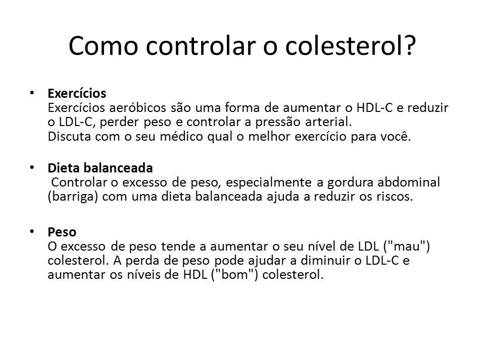 Como controlar o colesterol