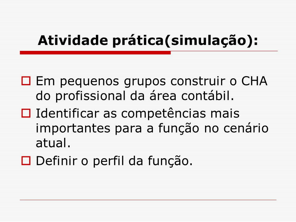 Atividade prática(simulação):