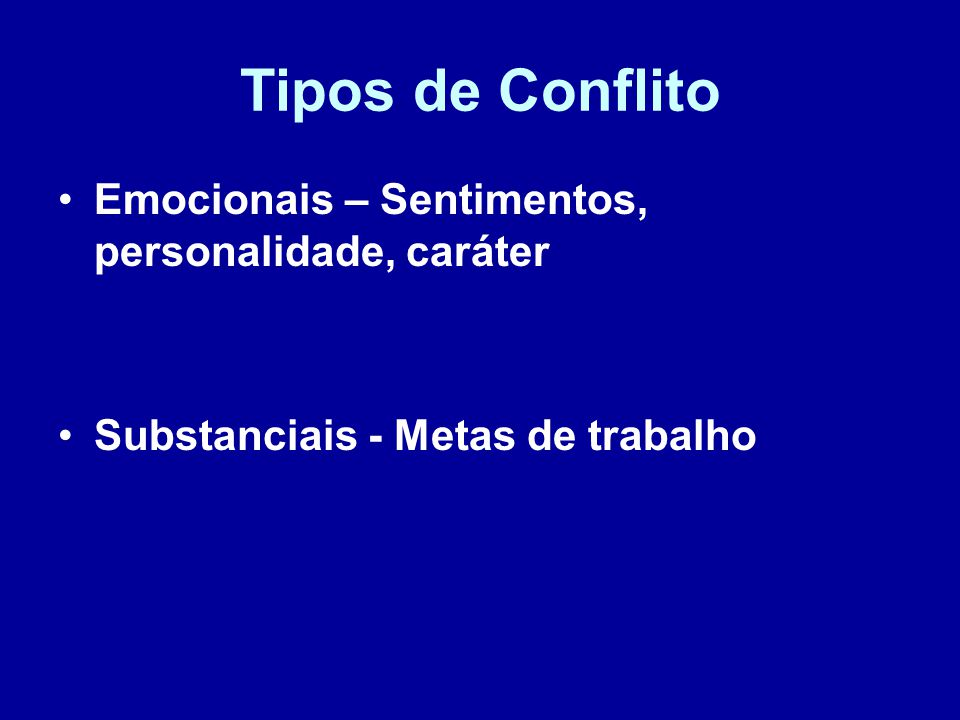 Tipos de Conflito Emocionais – Sentimentos, personalidade, caráter