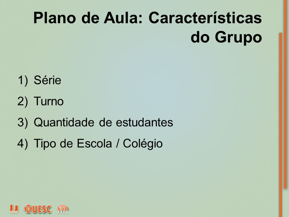Plano de Aula: Características do Grupo